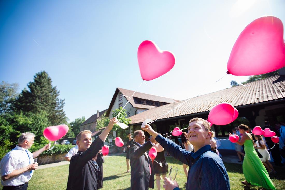 Luftballons in der Sonne