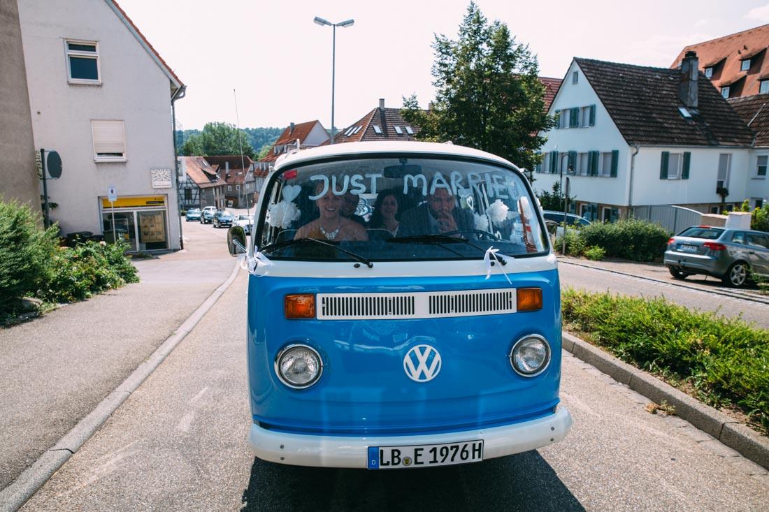Hochzeitsauto VW Bully Vaihingen
