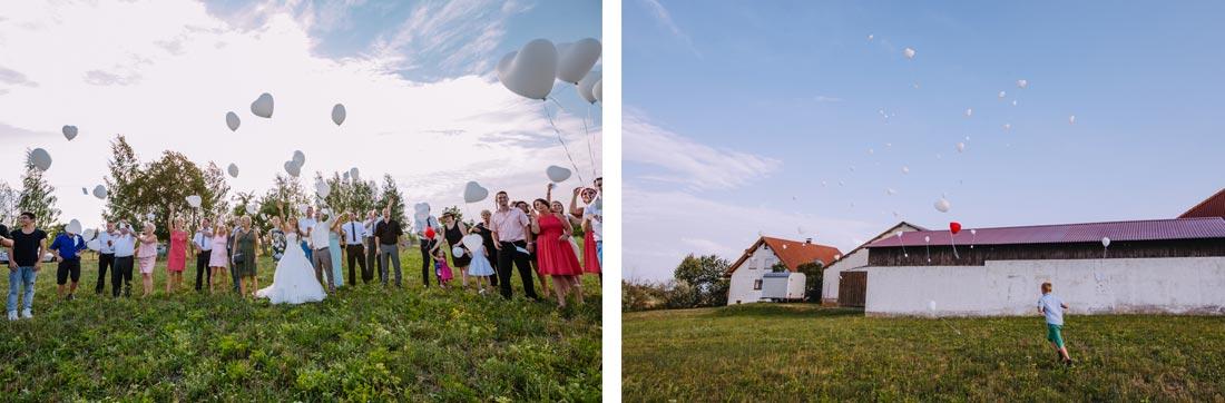 hochzeitsreportage luftballons wiese