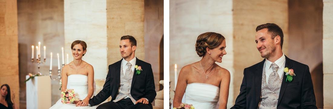 Paar während der Zeremonie
