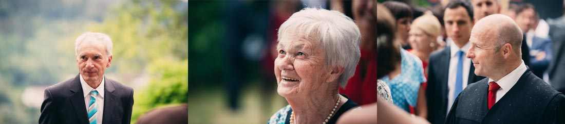 Ältere Dame im Fokus