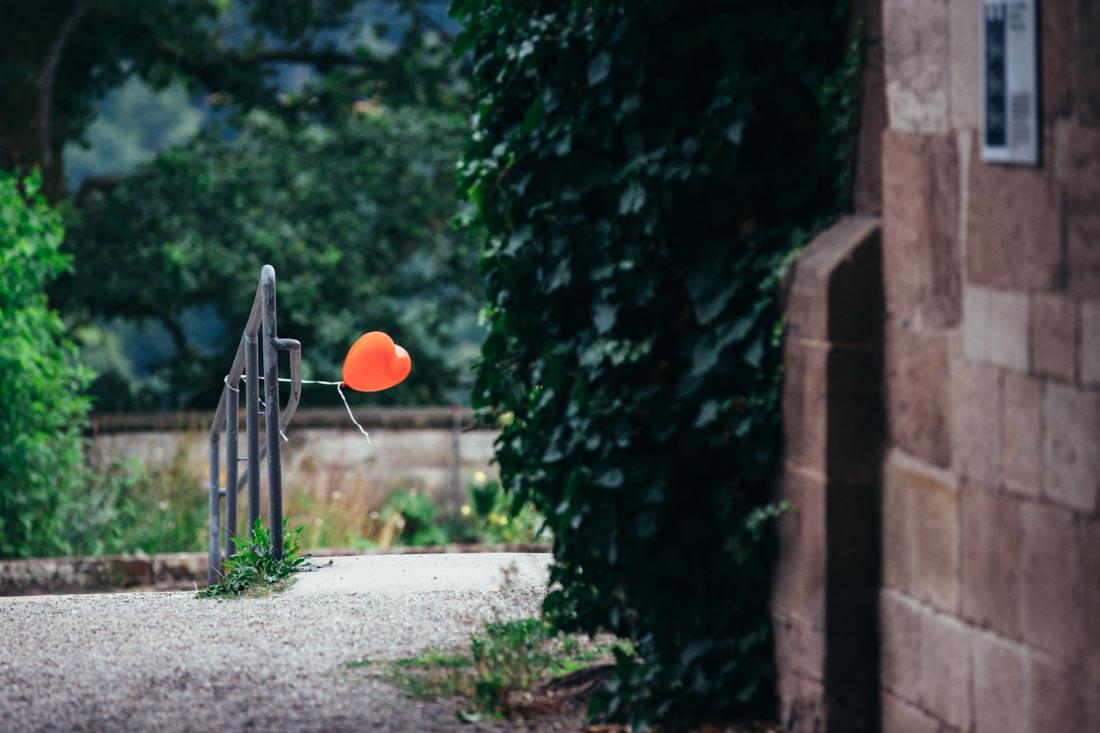 einsamer herzballon