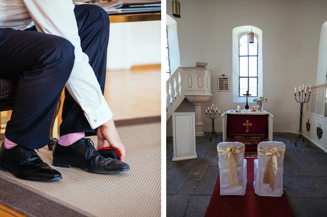 Schuhe werden sauber gemacht