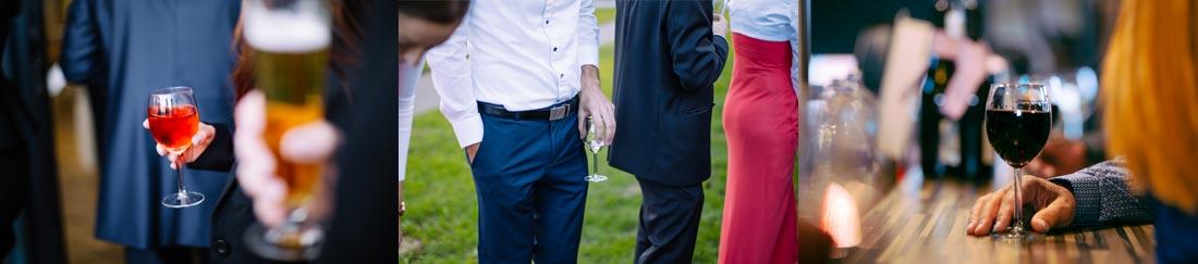 hochzeitsreportage Gäste Gläser