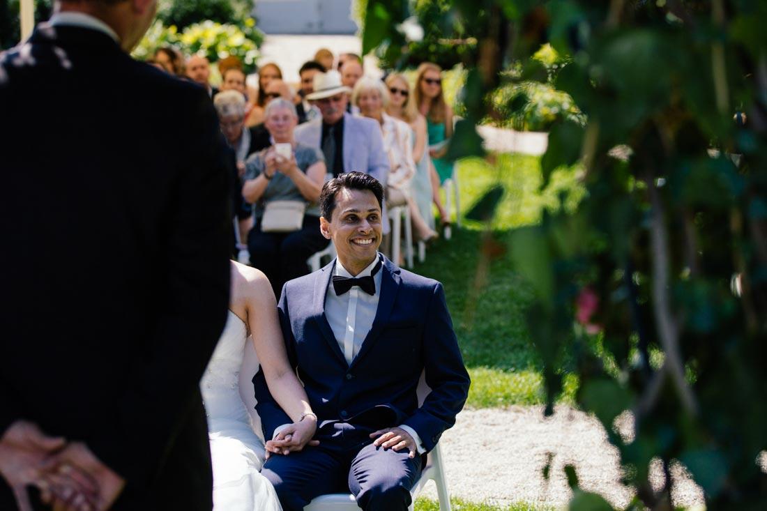 Bräutigam gefällt der Gesang