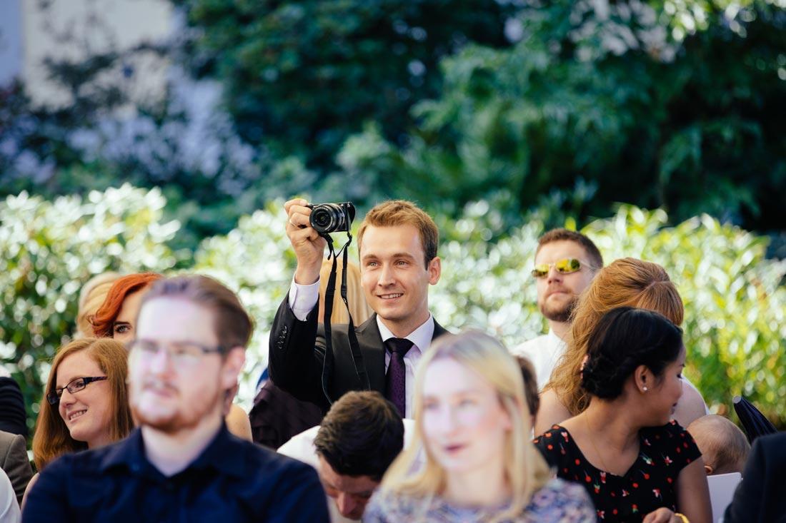 Gast macht ein Foto