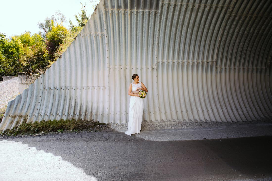 hochzeitsfotografie braut tunnel lg