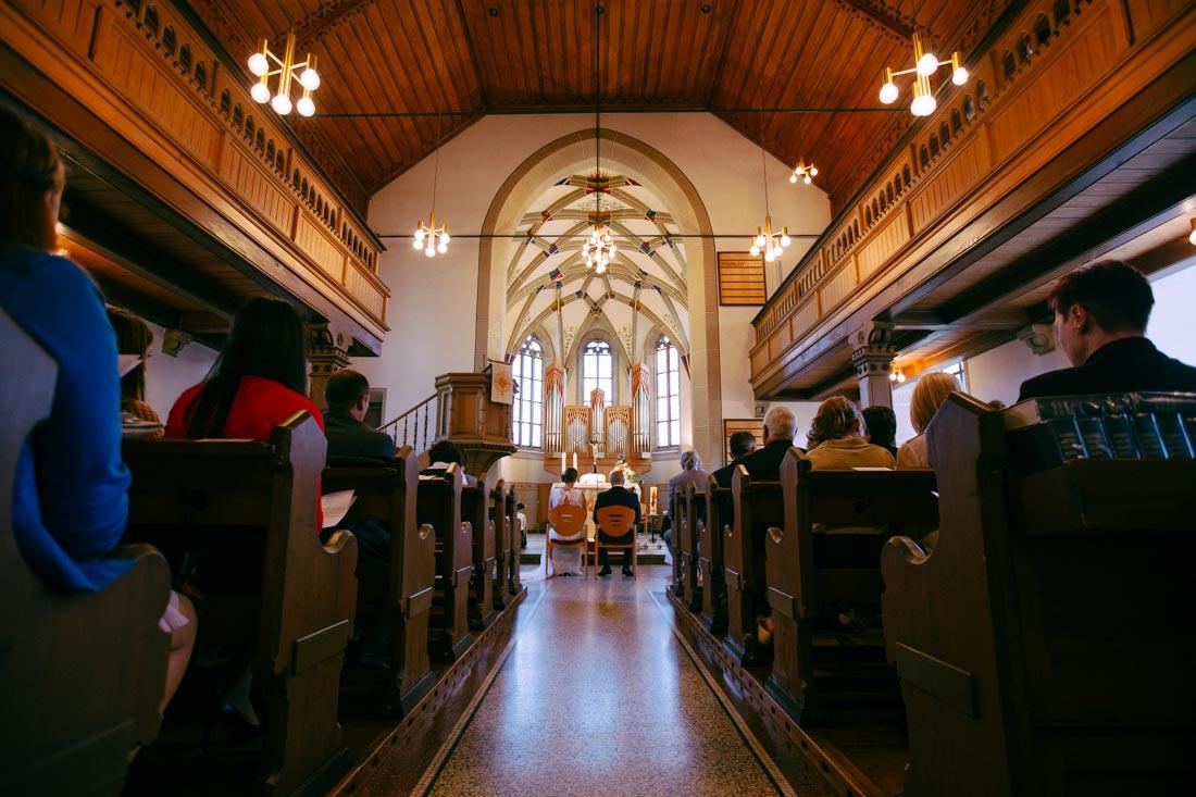 Hochzeit in rosswag kirche