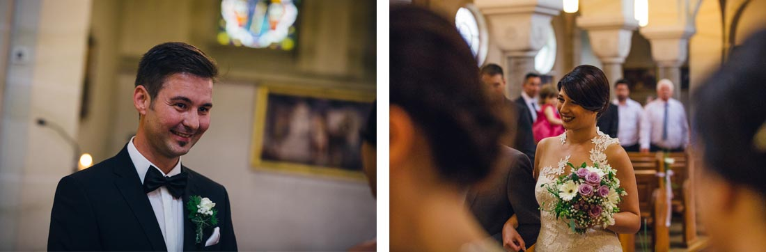 Bräutigam freut sich