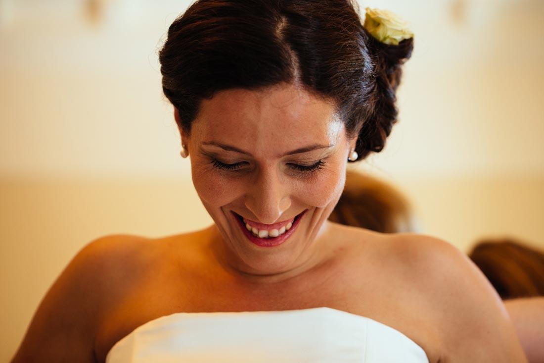 Vorfreude der Braut