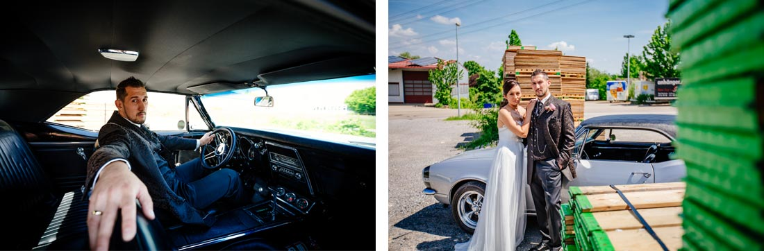 Hochzeitsshooting mit Oldtimer