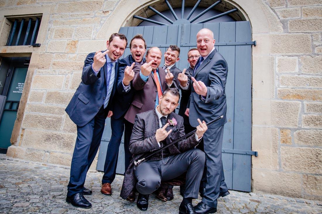 Gruppenfoto Männer Hochzeit