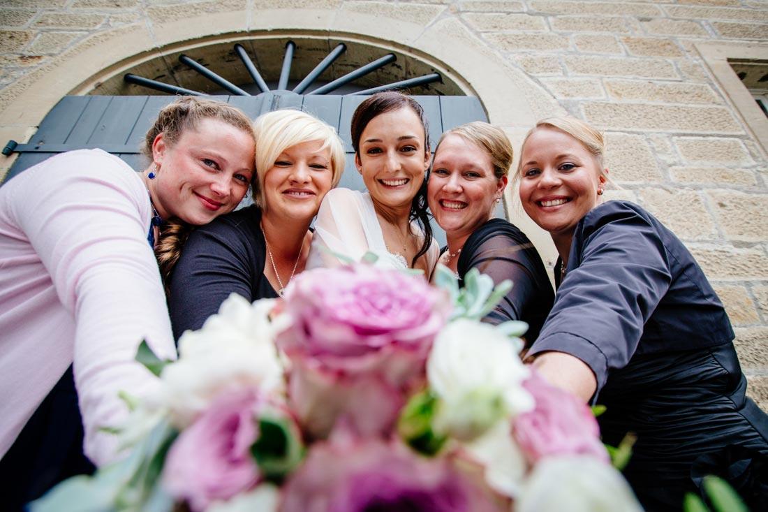 Gruppenfoto Frauen Hochzeit