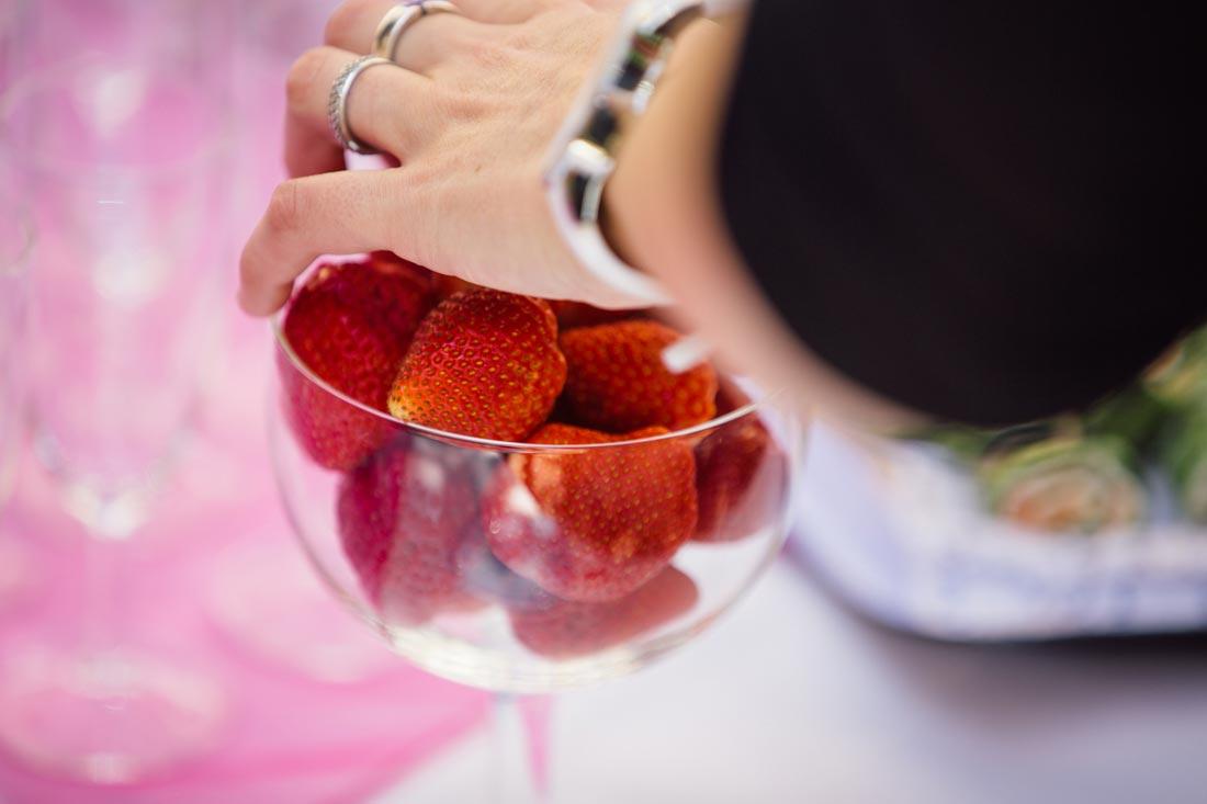 sektempfang erdbeeren