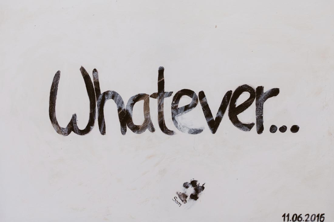 Whatever auf Leinwand