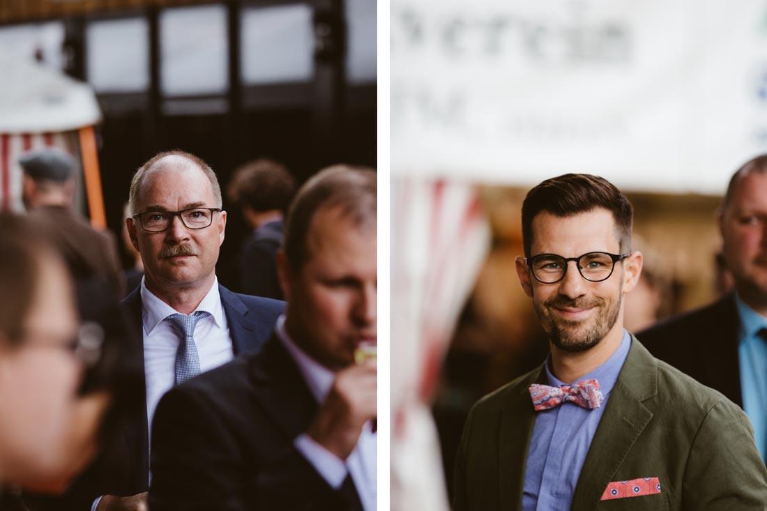 Bräutigam und Brautvater