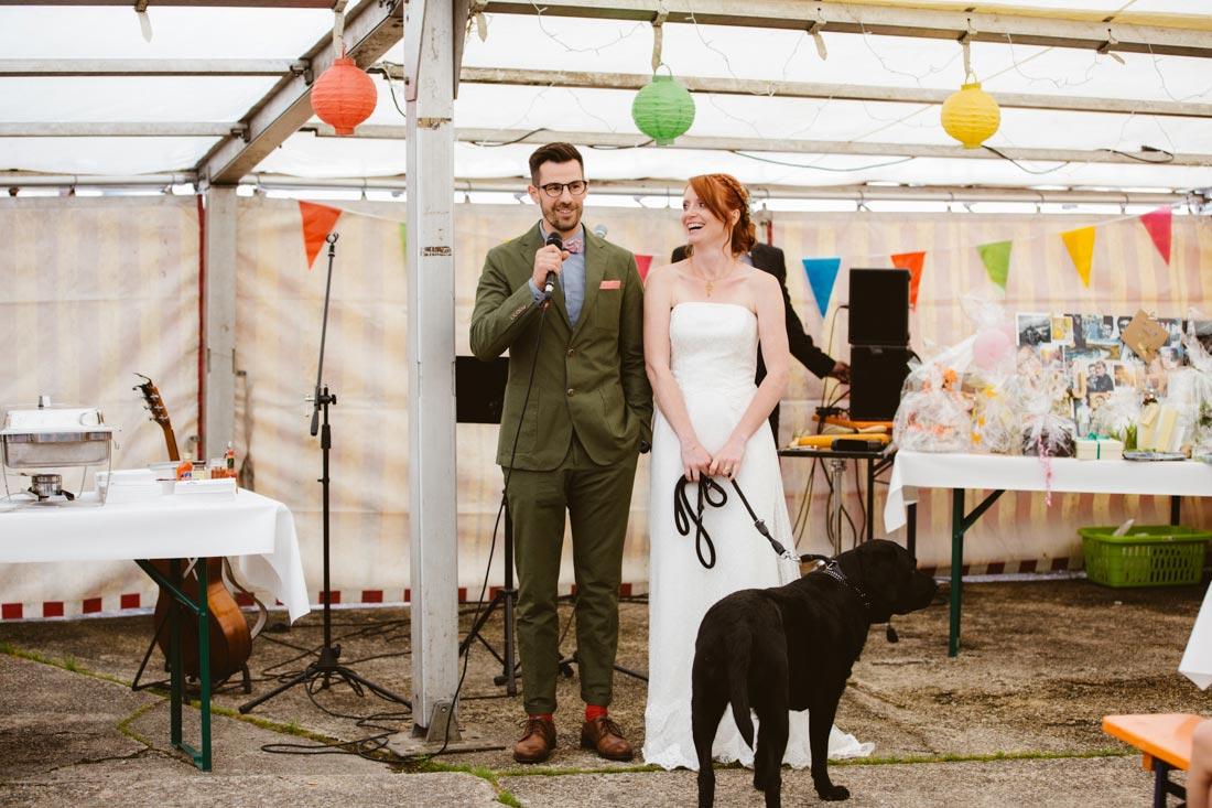 Rede des Brautpaars
