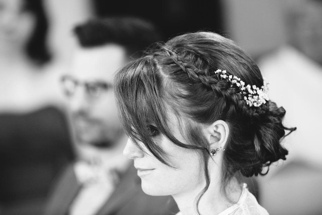 Braut schwarzweiss