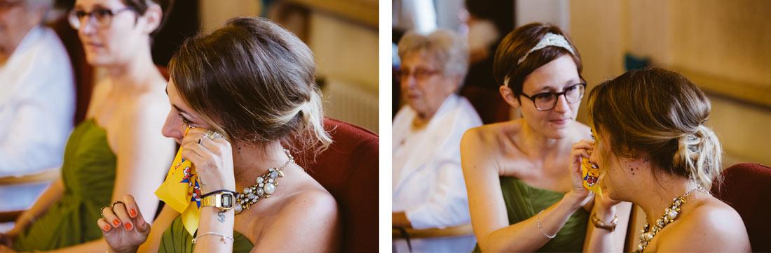 Tränen bei der Hochzeit