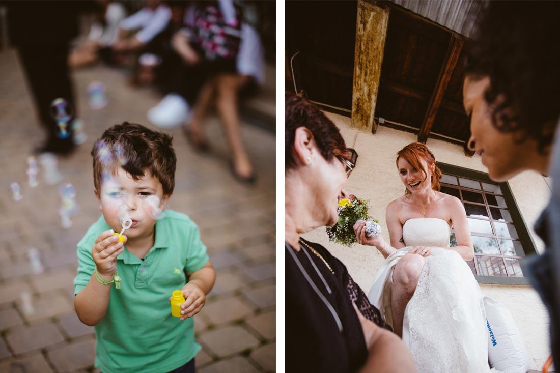 Seifenblasen und die Braut