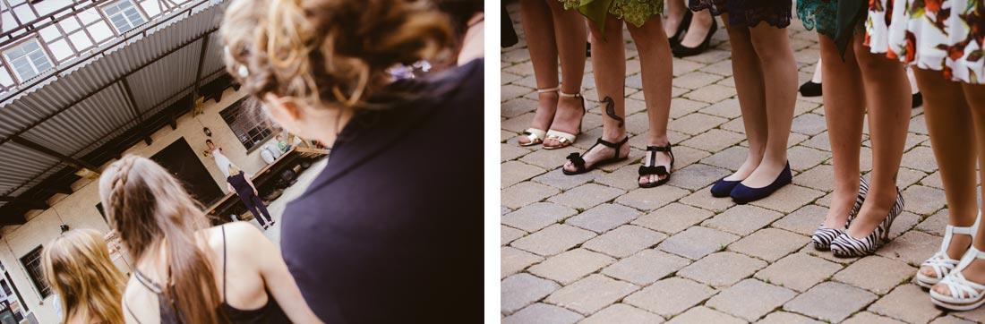 Warten auf den Brautstrauß