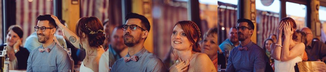 Stimmungen des Brautpaars