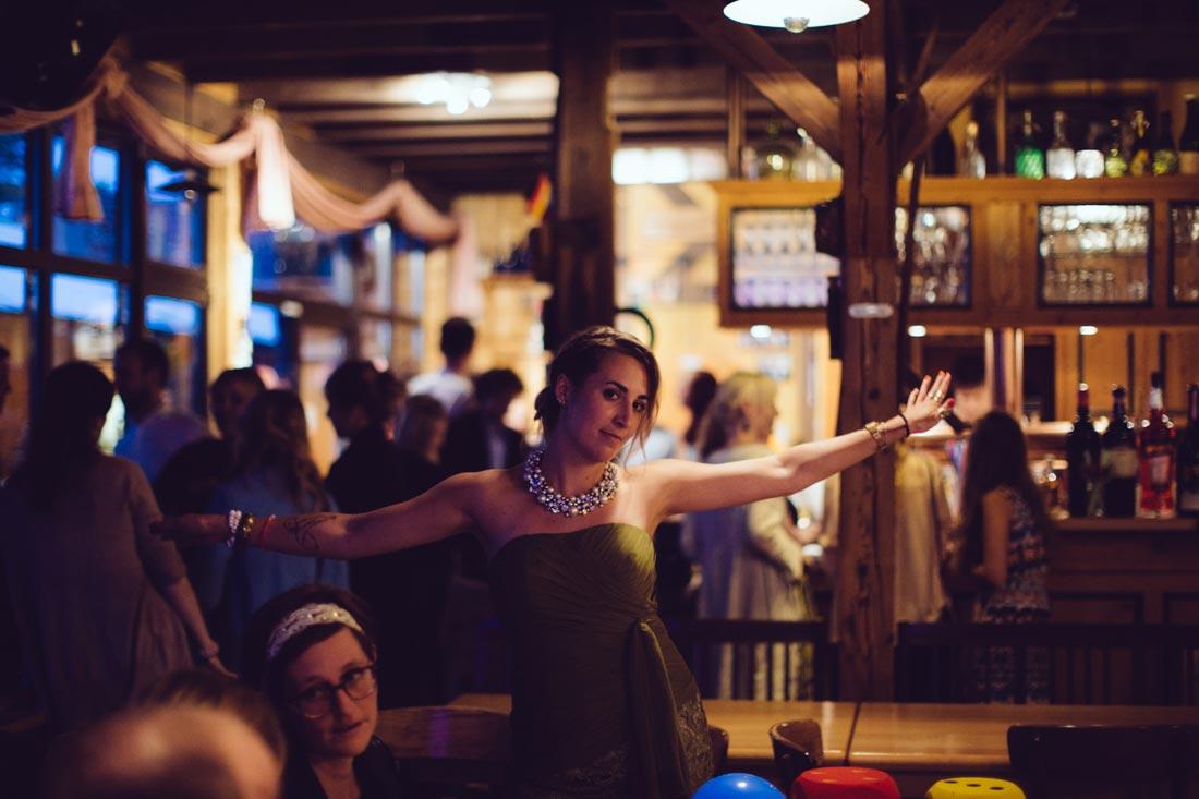 Gast beim tanzen