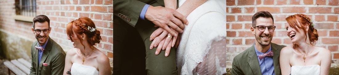 Händes des Paares mit Ringe