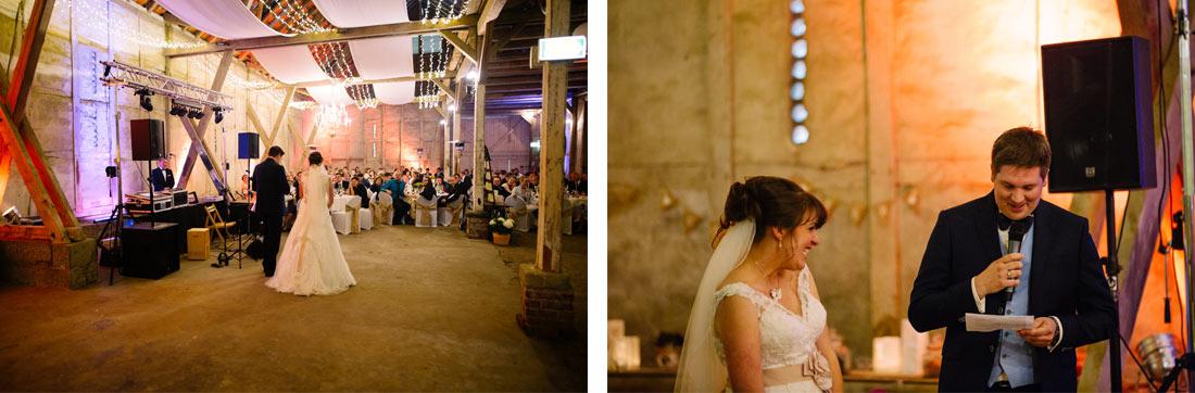 Hochzeitsansprache in der Scheune