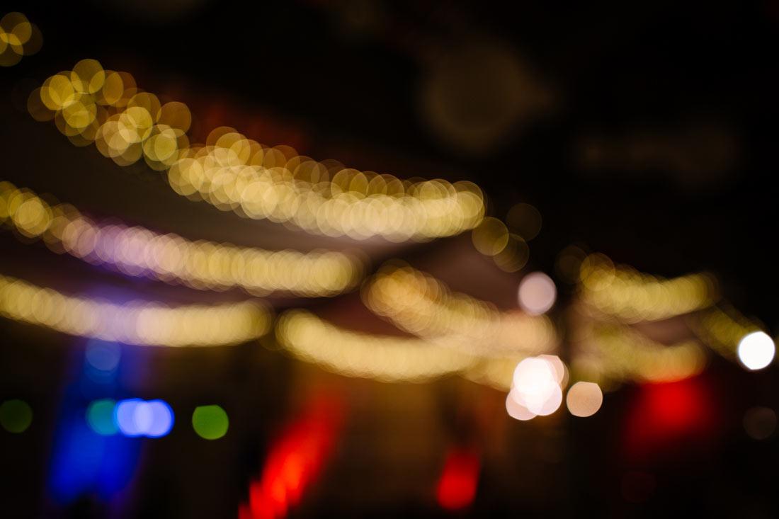 Partybeleuchtung in der Scheune