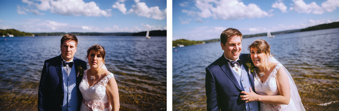 Hochzeitsfotos am See