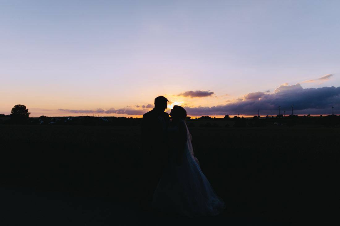 Paarbilder im Sonnenuntergang