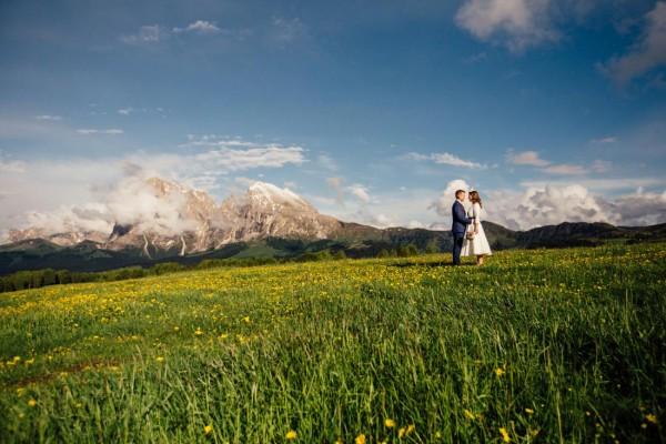 Hochzeitsfotos mitten in den Dolomiten