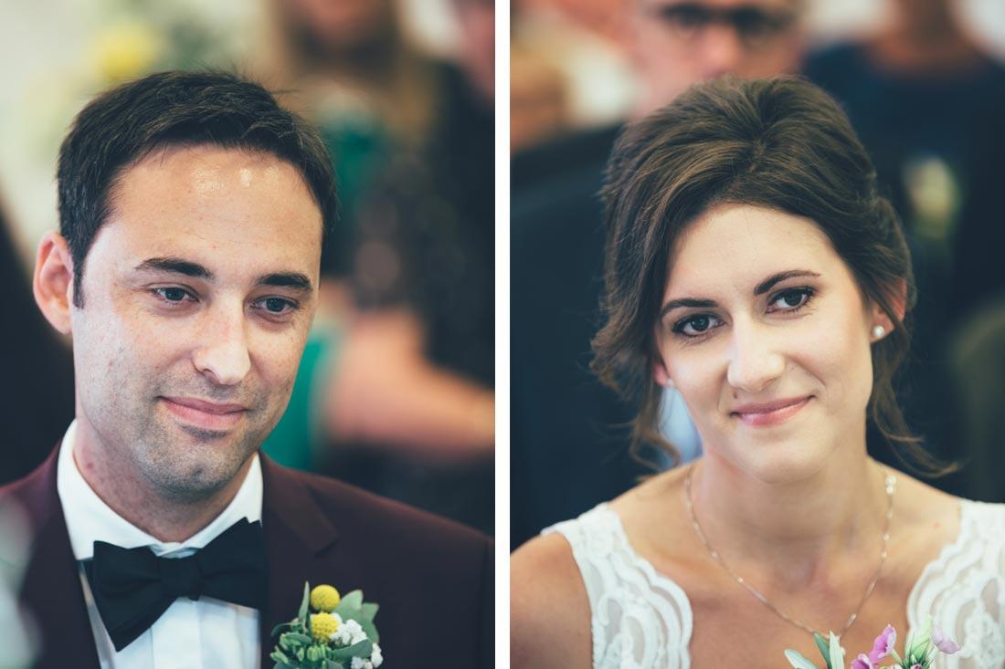 Portraits des Paars während der Trauung