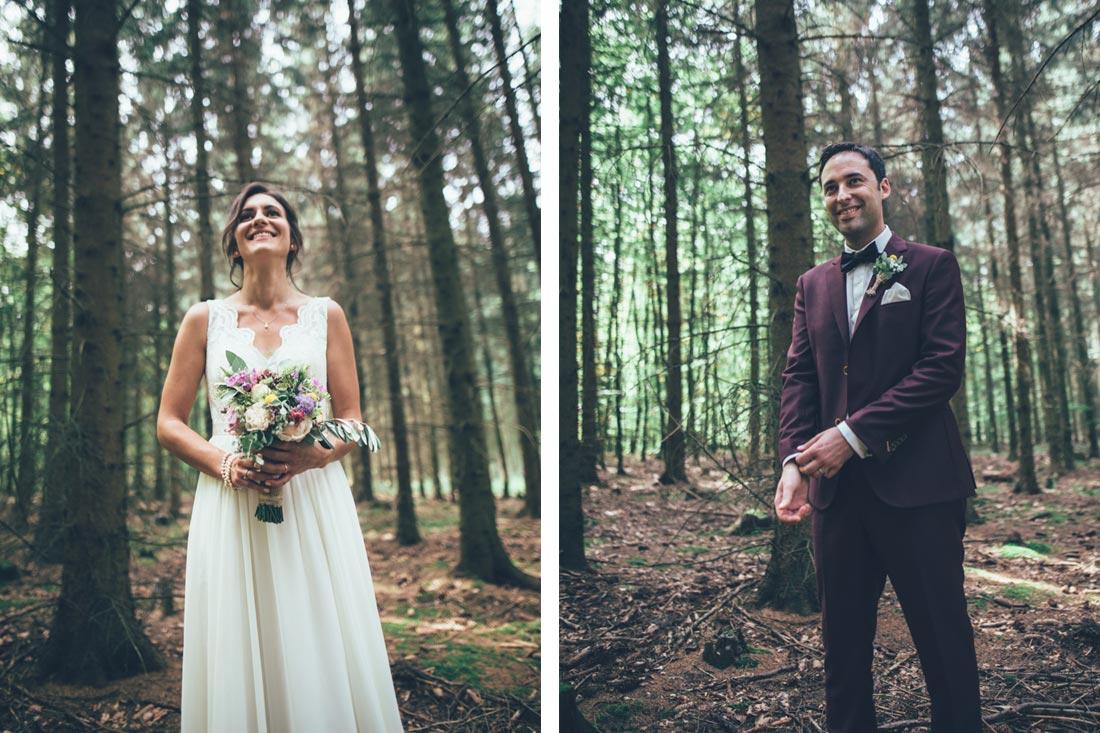 Hochzeitspaar Bilder im Wald
