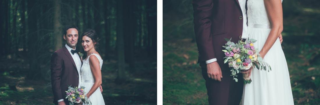 Hochzeitsfotografie im Wald