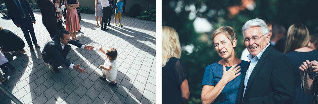 Kind rennt zu Vater
