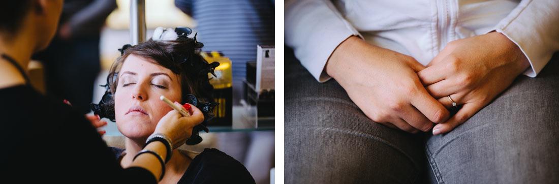 Makeup für die Braut