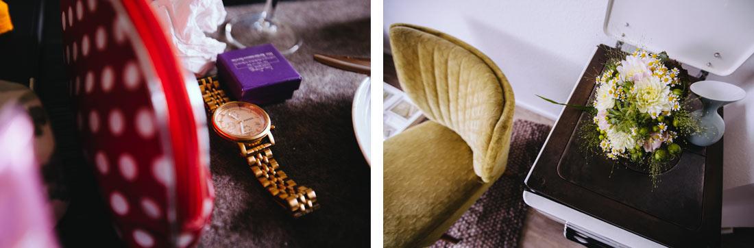 Brautstrauss und Uhr