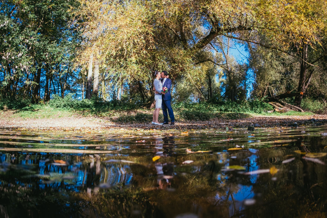 Hochzeitsfoto an der Enz