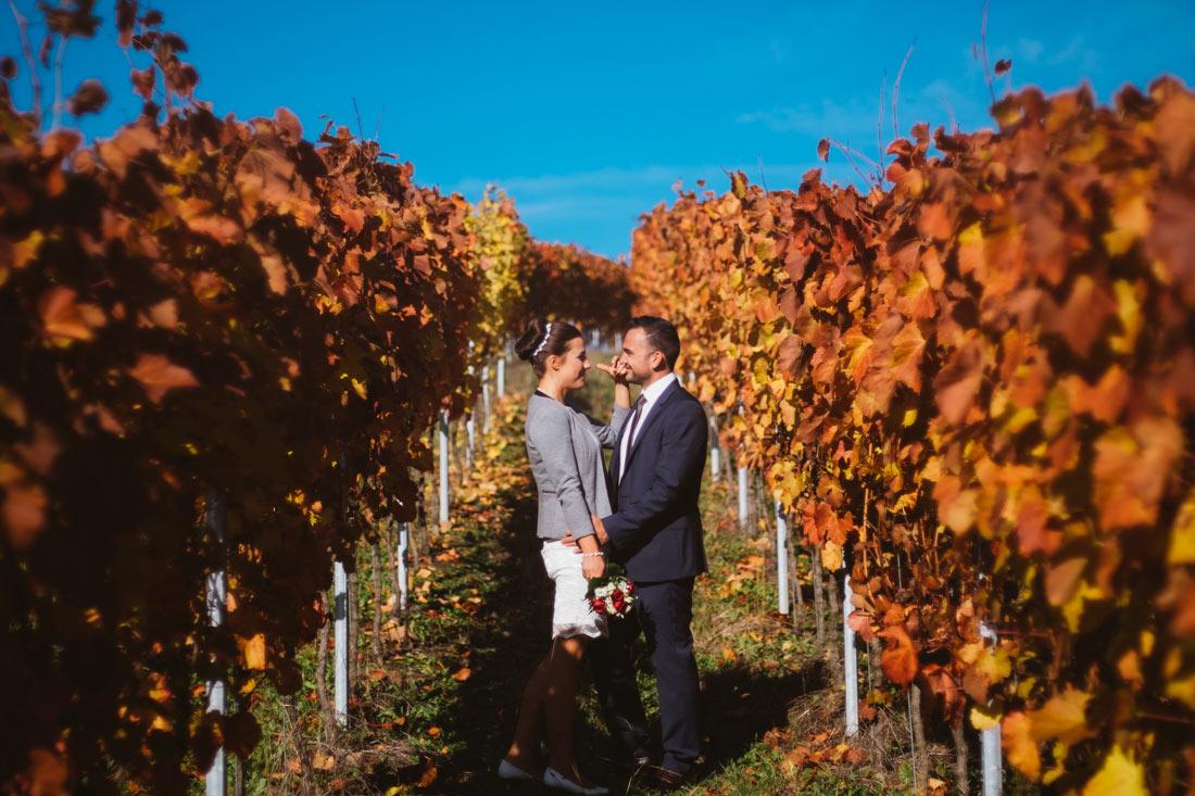 Hochzeitsbilder in den Weinbergen