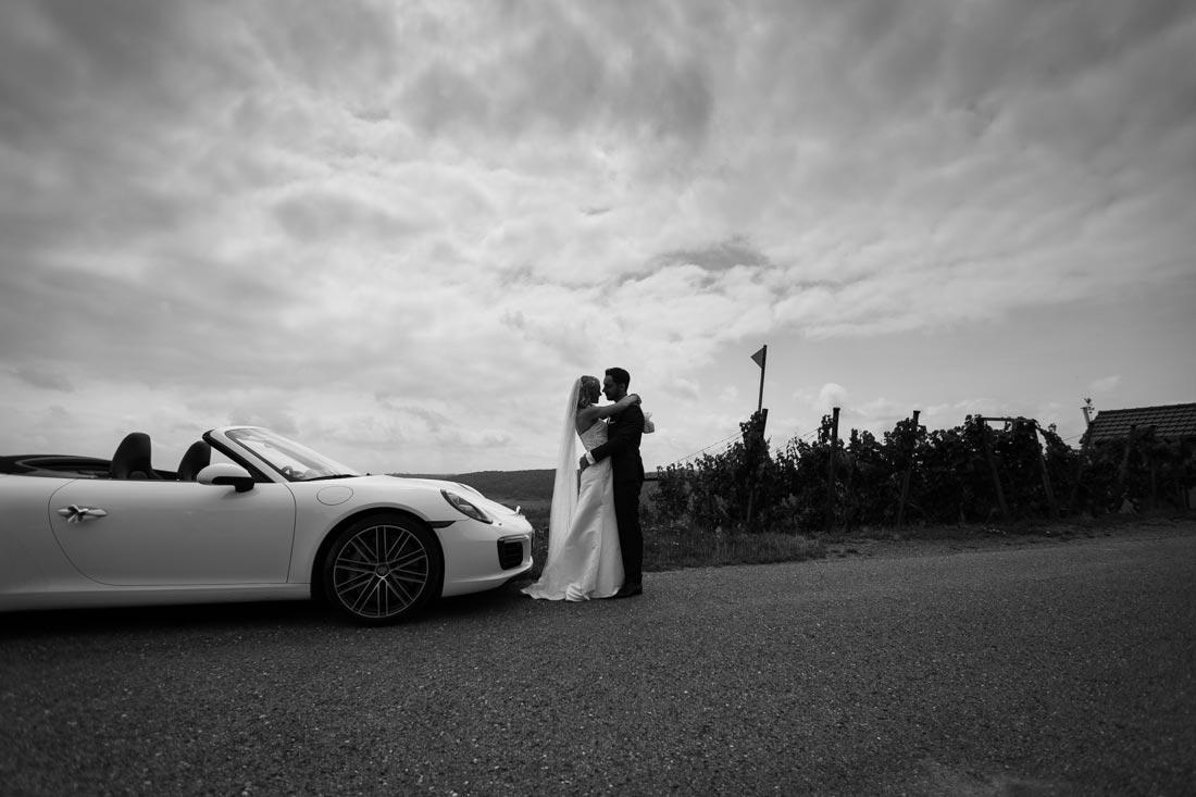 Porsche-Cabrio als Hochzeitsauto