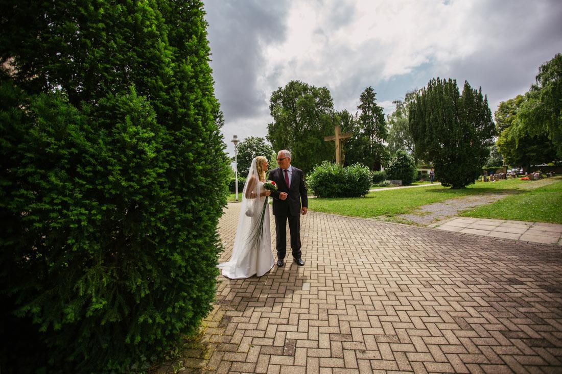 Brautvater und die Braut