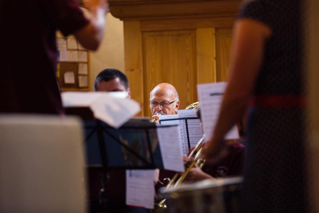 Orchester in der Kirche