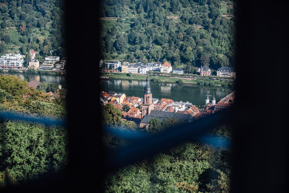 Blick auf Heidelberg aus dem Hotelzimmer