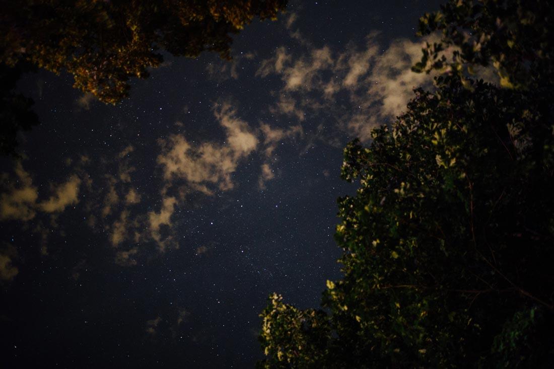 Nachthimmel über Heidelberg