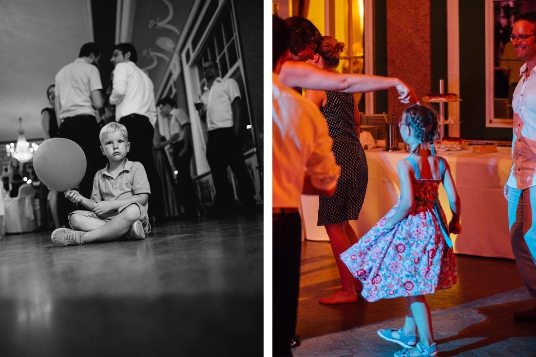 Kinder auf der Tanzfläche