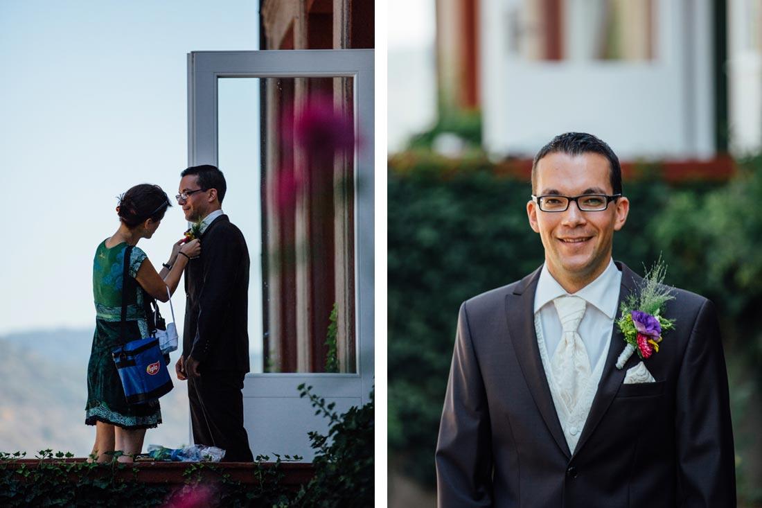 Letzter Schliff für den Bräutigam