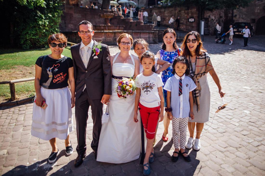 Gruppenbild mit Touristen in Heidelberg