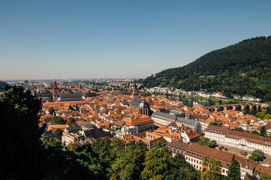Blick auf Heidelberg vom Schloss